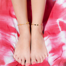 Load image into Gallery viewer, Bright Colors and Stars Chain Anklet