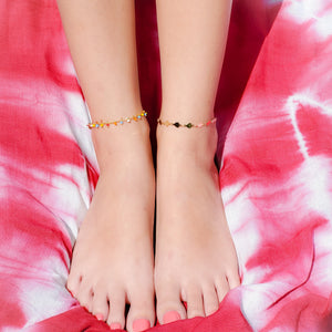 Bright Colors and Stars Chain Anklet