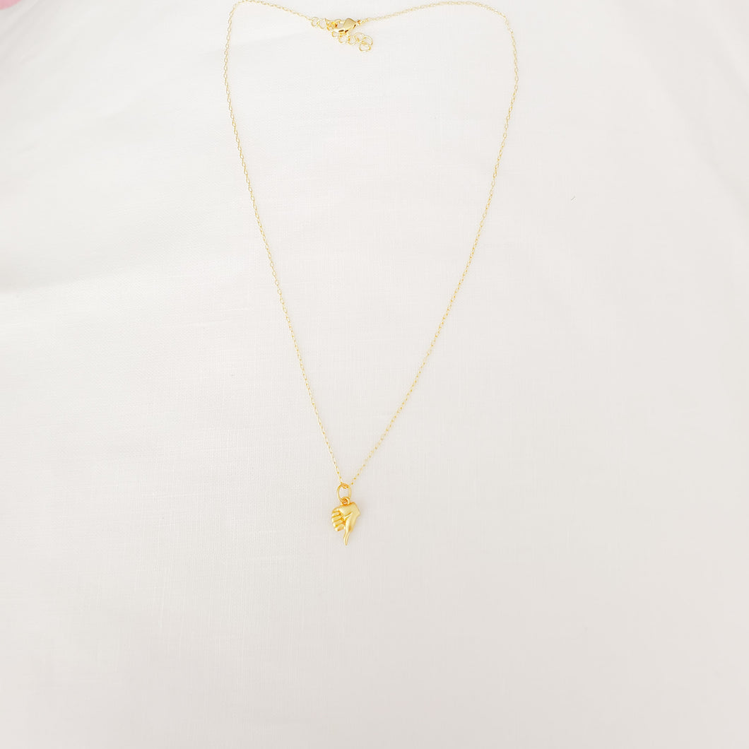 Golden Hand Gesture Charms Necklace