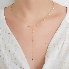 Load image into Gallery viewer, 18k Vermeil Gold Coin Choker and Lariat Necklace.