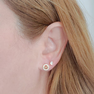 Screw Back Studs Earrings