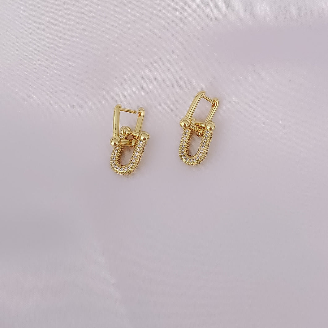 Bridge Links Huggie Earrings