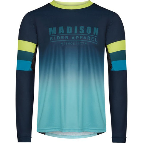 Alpine men's long sleeve jersey, ink navy / lime punch X-large