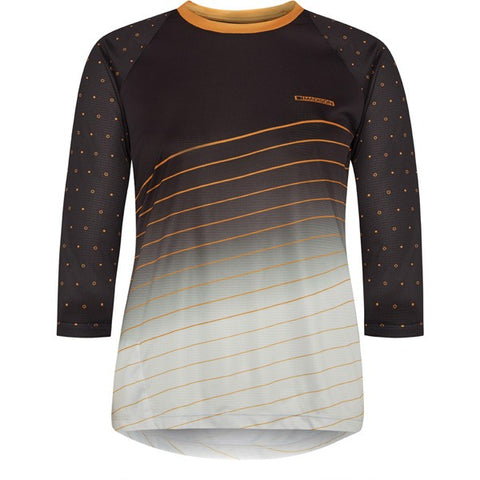 Flux Enduro women's 3/4 sleeve jersey, phantom / golden syrup size 14