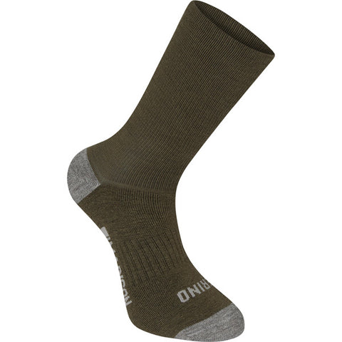 Isoler Merino deep winter sock, olive green small 36-39