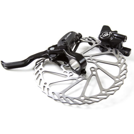 Clarks - CLOUT1 TWO PISTON HYDRAULIC BRAKE REAR R160 (LEFT LEVER) - IS MOUNT - BLACK ()