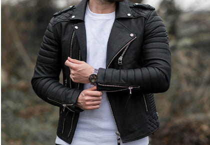 Men Biker Fashion Jacket