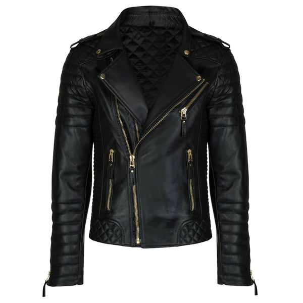 Men Black Fashion Leather Jacket