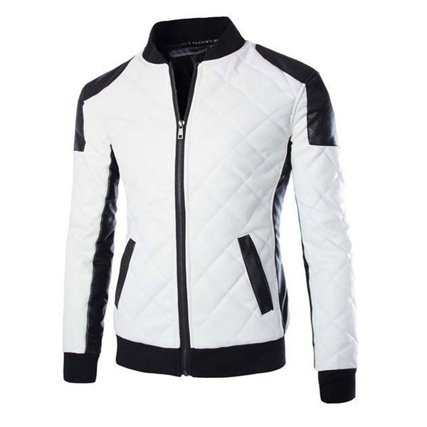 White Racer Biker Jacket -