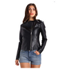 Women Elegant Fashion Leather Jacket -