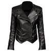 Women Genuine Leather Biker Double Zipper Jacket - Jackethunt