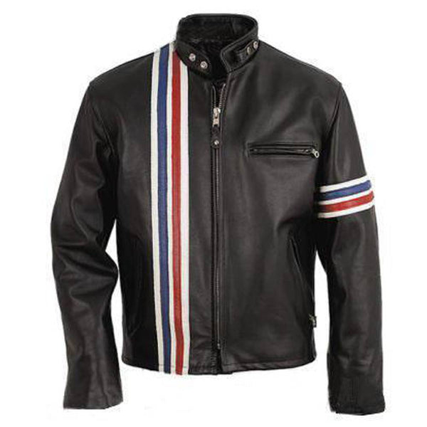 Peter Fonda USA Flag Biker Jacket -