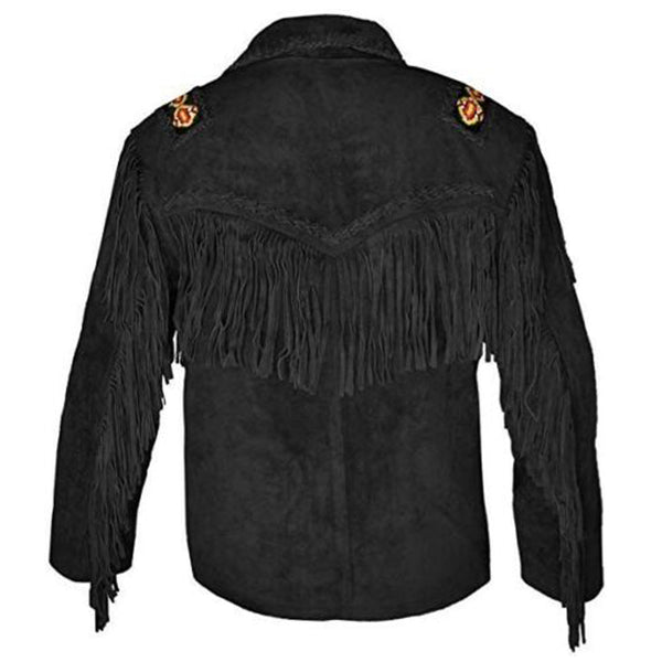 Native American Western Suede Leather Jacket -