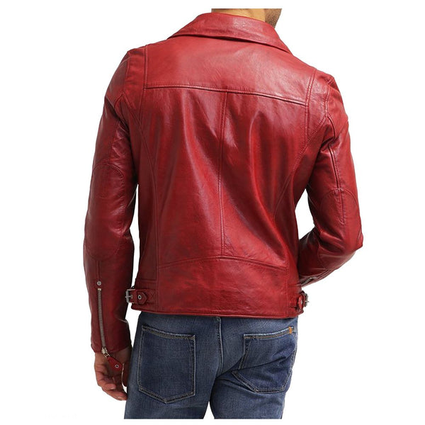 Red Double Rider Motorbike Jacket -