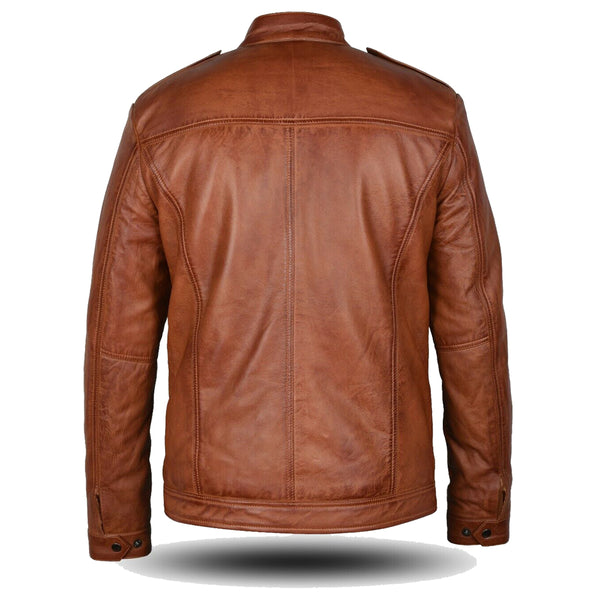 Tan Brown Black Fashion Jacket -