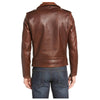 Sim Fit Brown Moto Jacket USA -