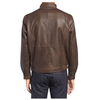 Slim Fit Brown Moto Jacket - Jackethunt