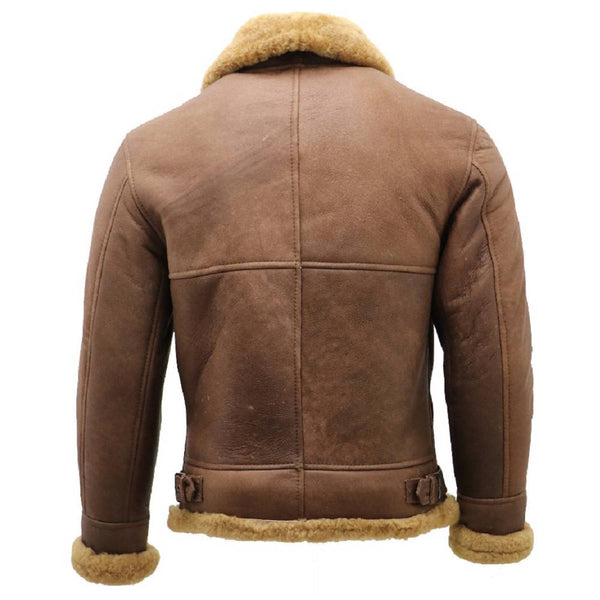 Shearling Bomber Jacket - JacketHunt