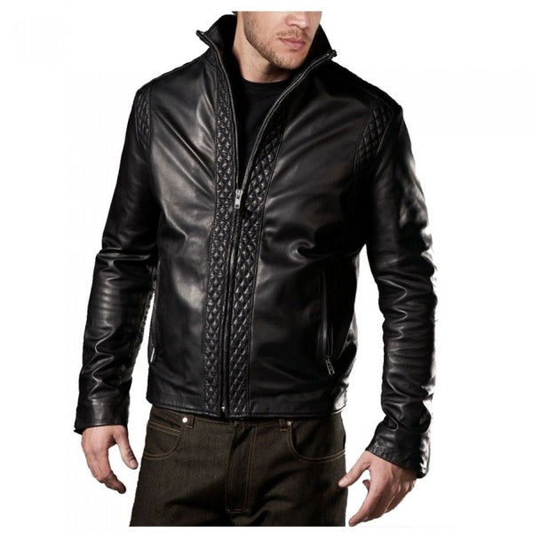 Quilted USA Designer Biker jacket -