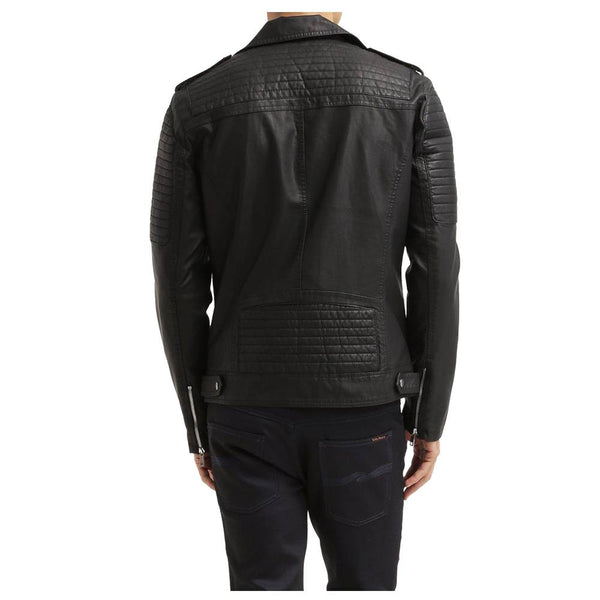 Black Motorcycle Leather jacket -