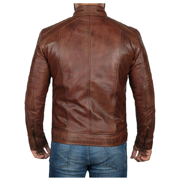 MEN OXBLOOD BOMBER WAX LEATHER JACKET - jackethunt