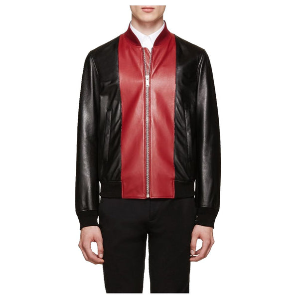 Blouson Slim Fit Fashion Biker Leather Jacket - JacketHunt