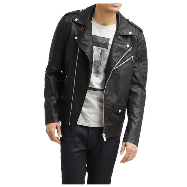 Black Motorcycle Leather jacket - jackethunt