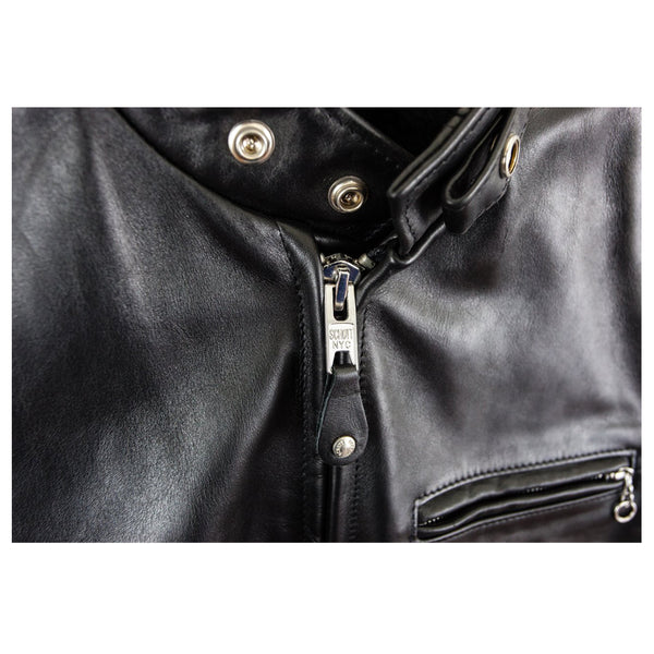 MEN CLASSIC RACER LEATHER MOTORCYCLE JACKET PLAIN -