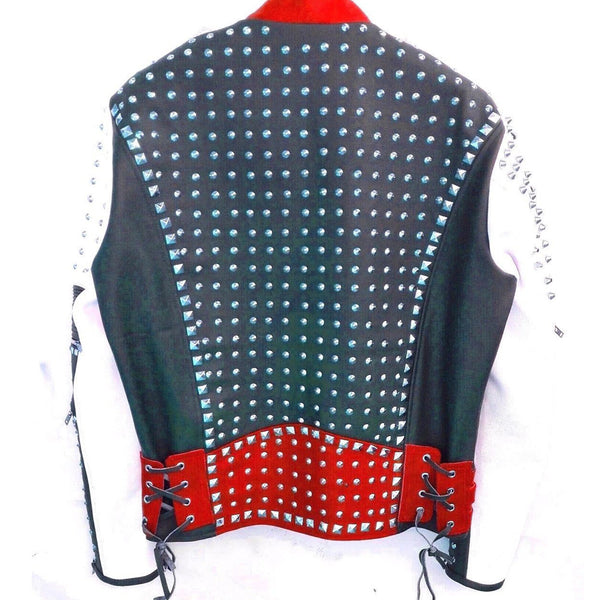 Full Studded American Biker Leather Jacket - Jackethunt