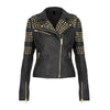 NEW Women's Pure Golden Half Studded Brando Style Black 2019 -