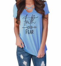 Load image into Gallery viewer, Faith Over Fear Short Sleeve Tee