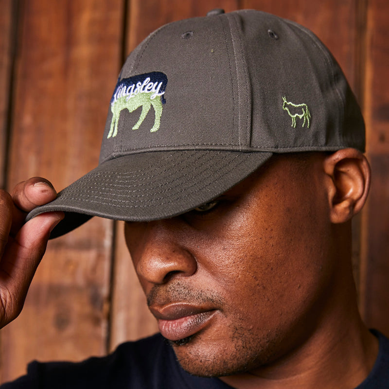 Two-Tone Nguni Stretch Gravel Cap