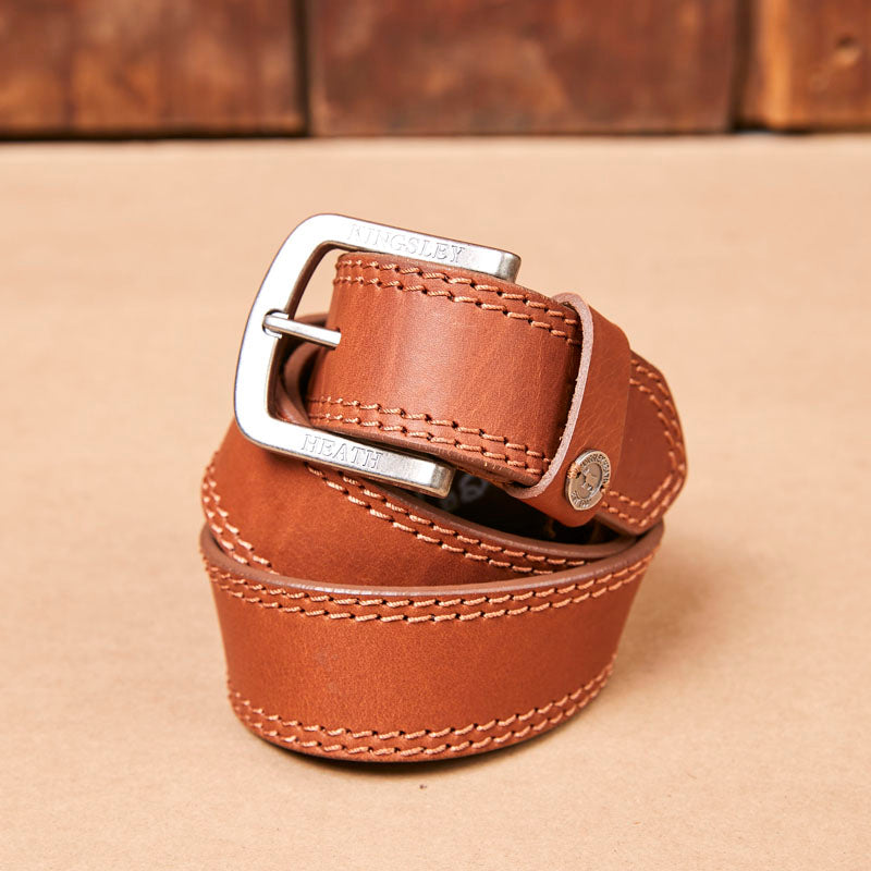 Kingsley Heath Rivet Loop Tan/Nickel Belt
