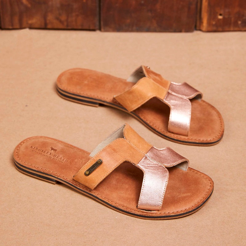 Kingsley Heath H Vamp Tan/Tan Sandal