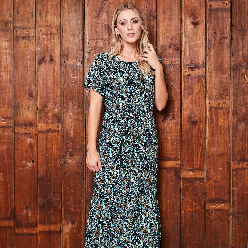 Butterfly Camo Maxi Mamba Dress