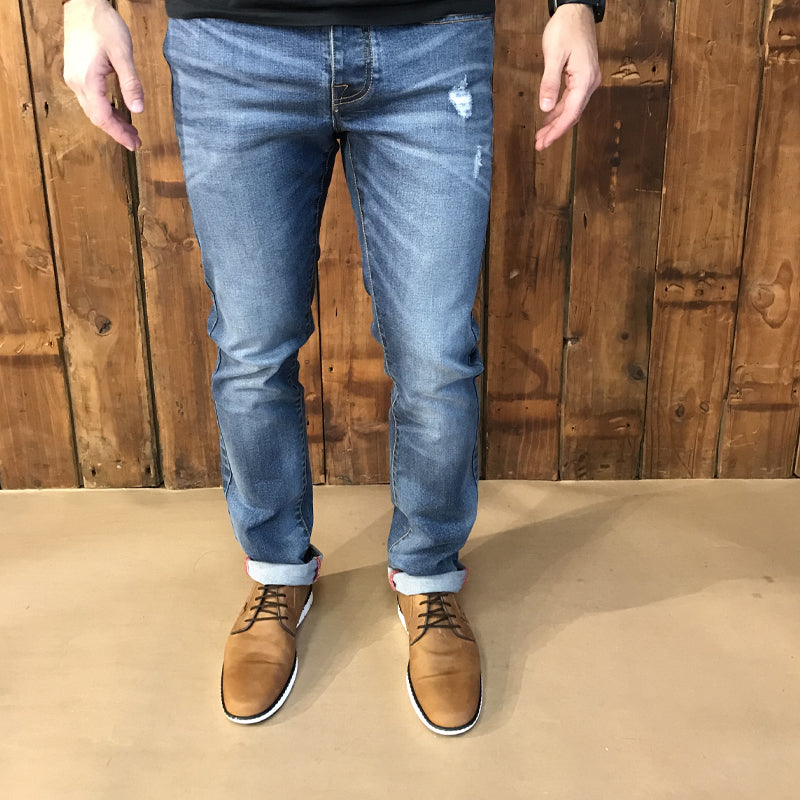 Ranger Slim Heavy Distress Denim