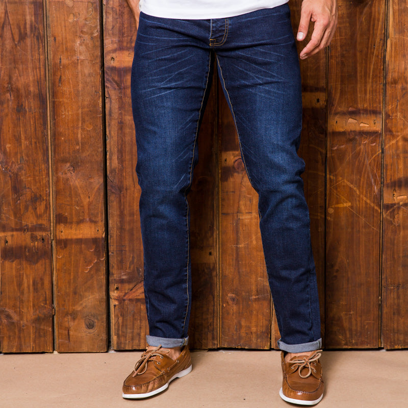Serengeti Tapered Indigo Dark Wash Denim