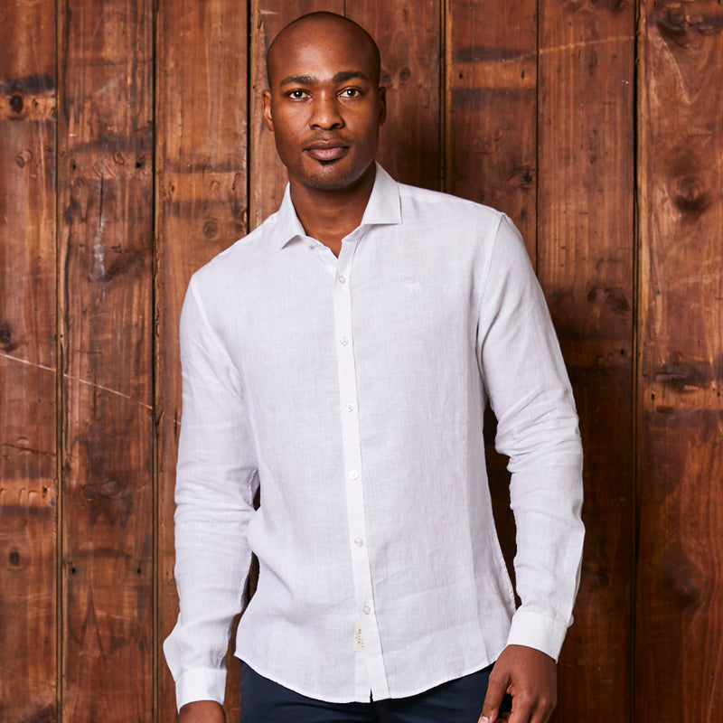 Endless Summer Linen Slim Fit Pelican Shirt