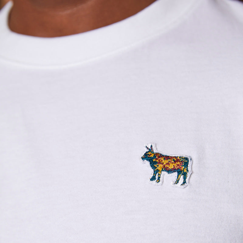 Nguni Embroidery Badge Crew Pelican Tee