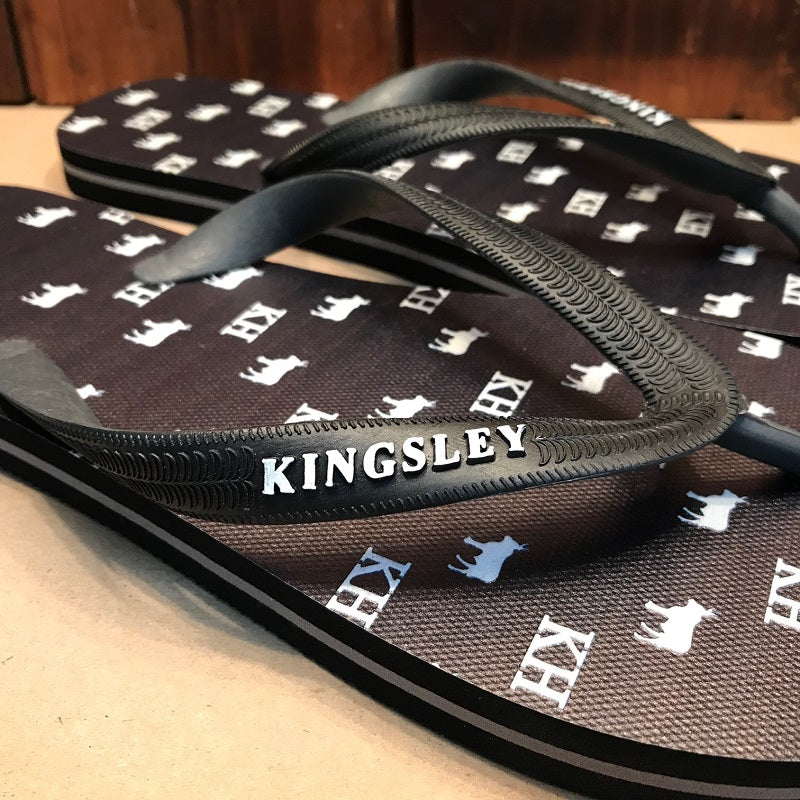 Kingsley Heath Digi Print Repeat Nguni Black/Black/White Sandal