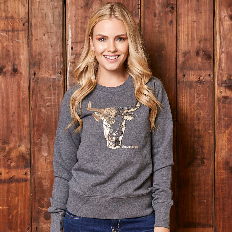 Kingsley Heath Foil Half And Half Pullover Jackal Sweater