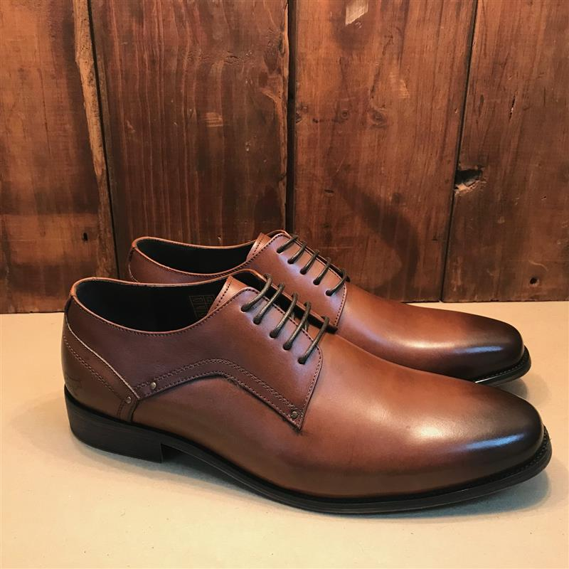 Kingsley Heath Crafted Tan/Choc/Black Plain Toe