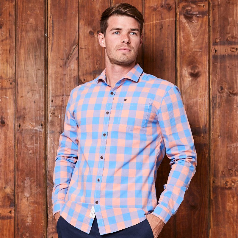 Ceres Weekender Slim Fit Coral Shirt