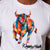 Charging Pop-Art Nguni Crew Pelican Tee