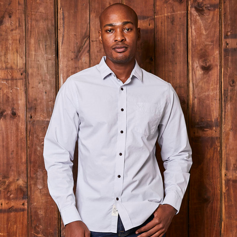 Classic Kingsley Heath Chambray Muscle Fit Sky Shirt