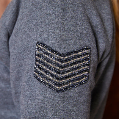 Luxury Stacked Rivet Pullover Jackal Sweater