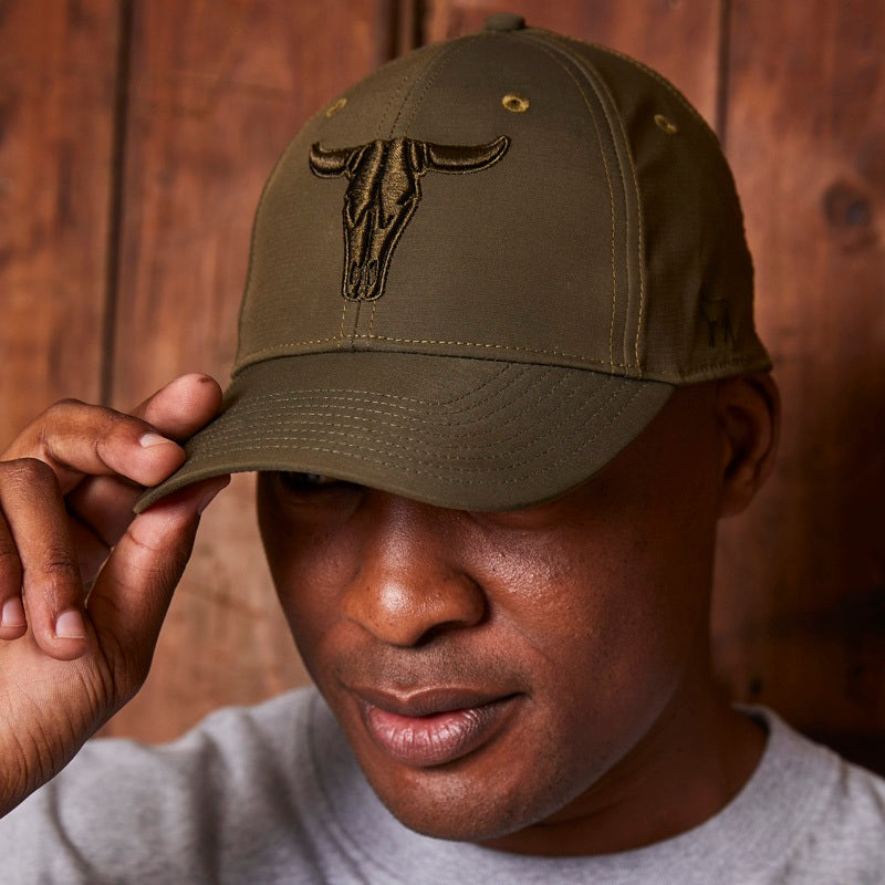 Kingsley Heath Skull Puff Emb Fatigue Cap