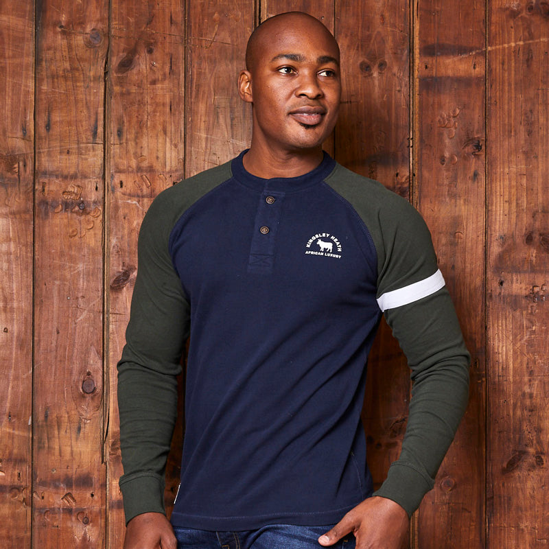 Kingsley Heath Classic Raglan Midnight Henley
