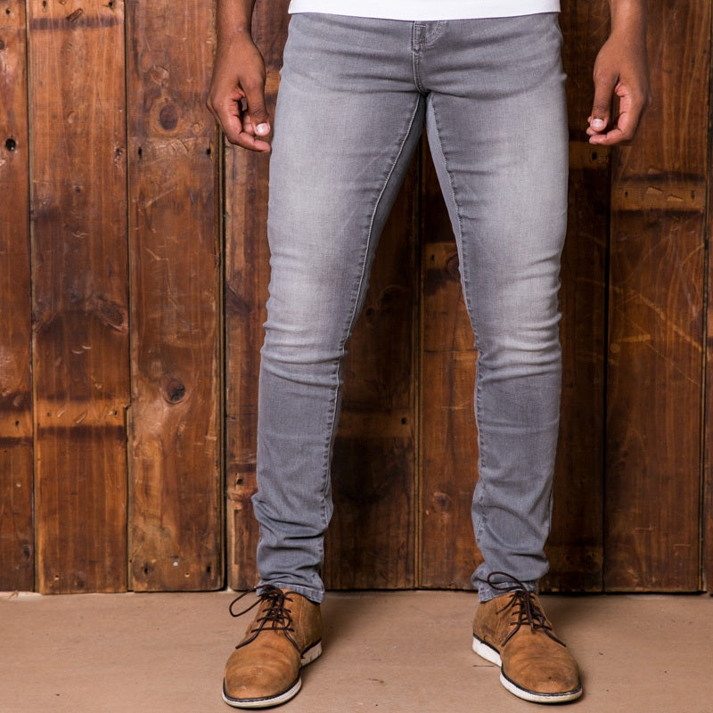 Okavango Super Slim Light Grey Wash Denim