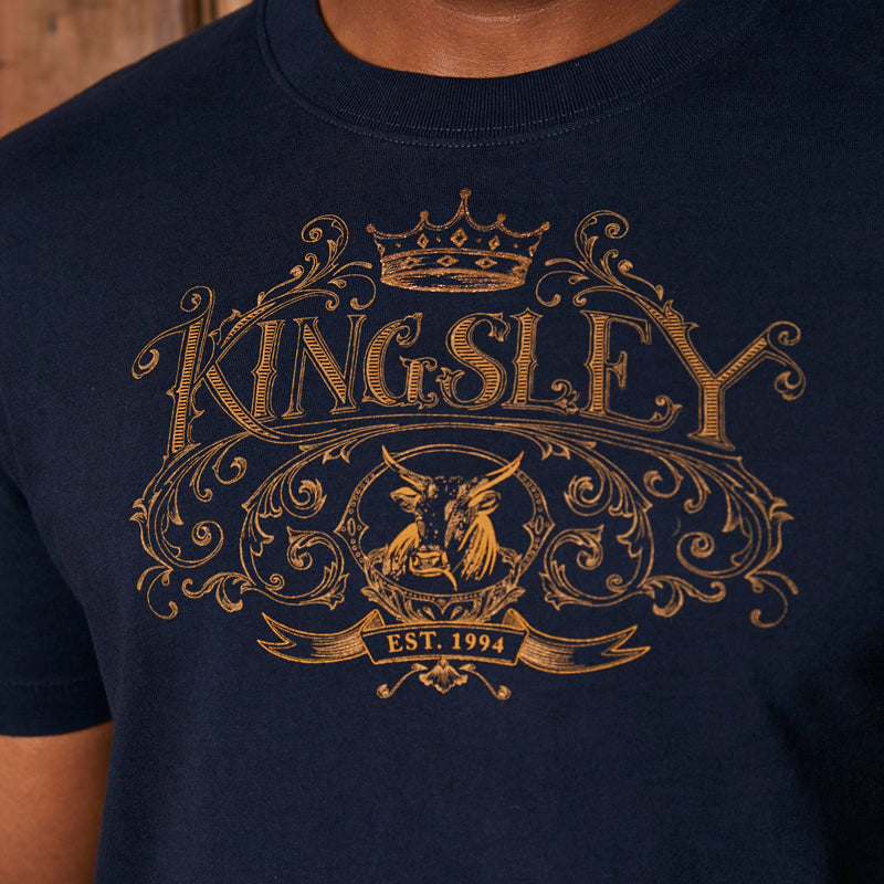 Kingsley Sketchy Corp Crew Midnight Tee